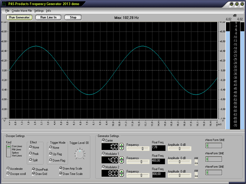 Click to view Frequency Generator screenshots
