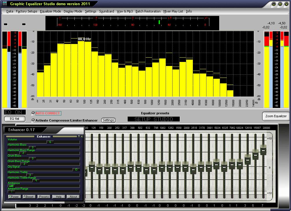 Screenshot für Graphic Equalizer Studio
