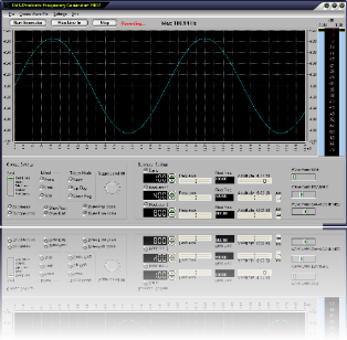 Frequency Generator Oscilloscop calibrated to 1/100 of a dB
