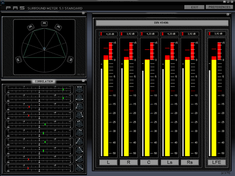 Surround Meter 5.1 Screen shot